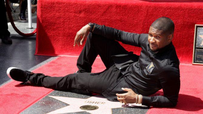 Usher estrella paseo de la fama