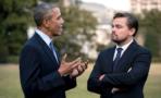 Barack Obama y Leonardo DiCaprio se