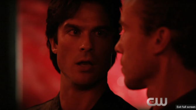 Damon Warns Stefan About Evil Ahead