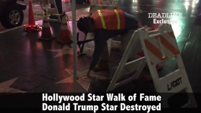 Video estrella Donald Trump paseo de