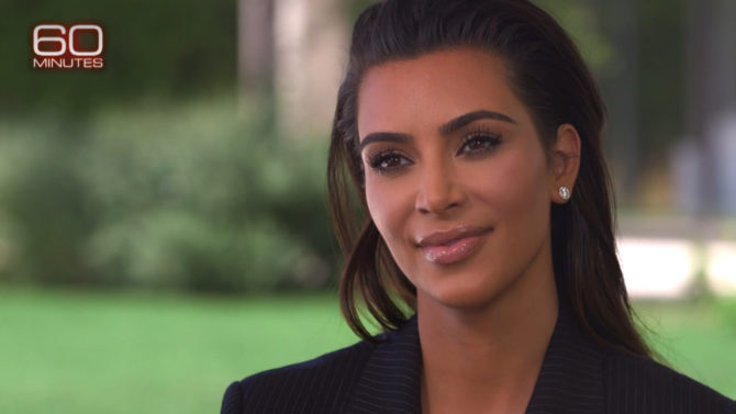 Video Kim Kardashian entrevista 60 minutes