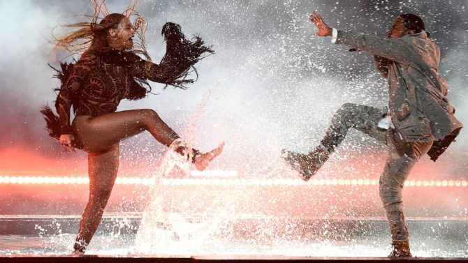 Beyonce Knowles and Kendrick Lamar BET