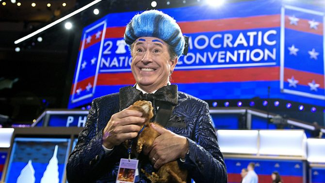 Stephen Colbert, television host of The