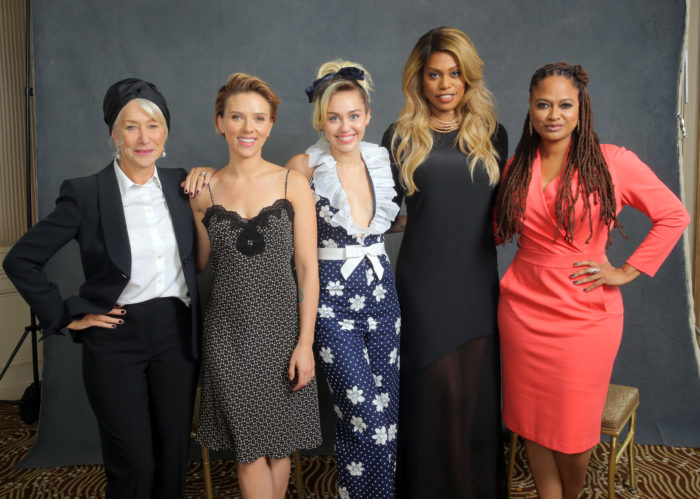 Helen Mirren, Scarlett Johansson, Miley Cyrus, Laverne Cox y Ava DuVernay