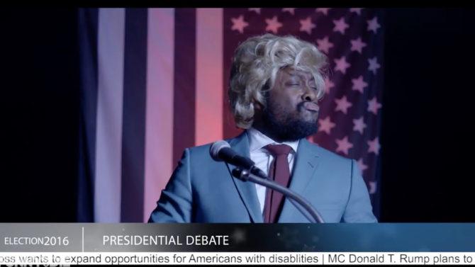 Video Will.i.am. imita Donald Trump