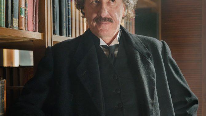 Geoffrey Rush as Albert Einstein for