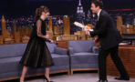 Felicity Jones y Jimmy Fallon