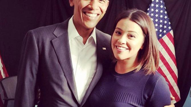 Video Gina Rodríguez Barack Obama voto