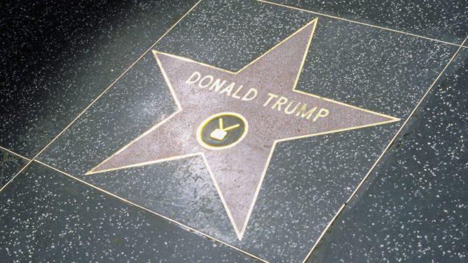 Estrella de Donald Trump en el