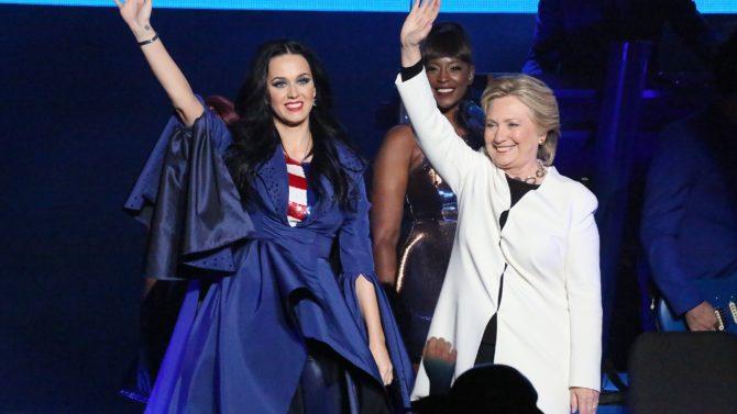 Hillary Clinton y Katy Perry
