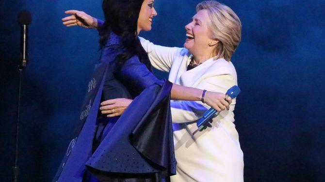 Katy Perry escribe mensaje Hillary Clinton