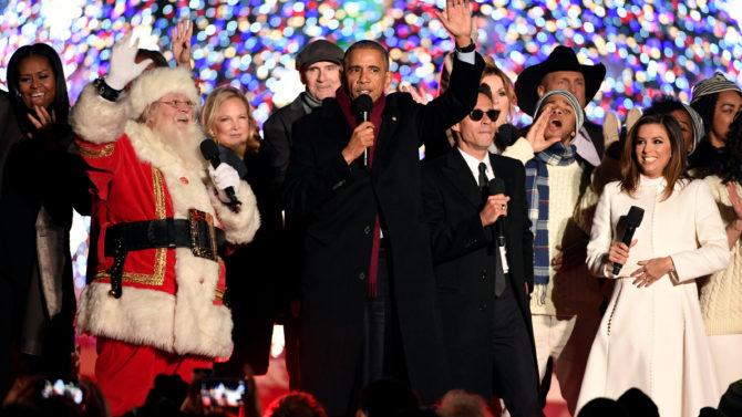 """El presidente Barack Obama canta """"Jingle"""